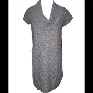 Express Sweater Dress or Tunic Top. Gray Cowl Neck